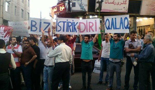 İranda azərbaycanlılar yenidən etirazlara başladı – VİDEO