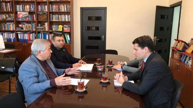 Sabir Rüstəmxanlı ABŞ diplomatı ilə görüşüb