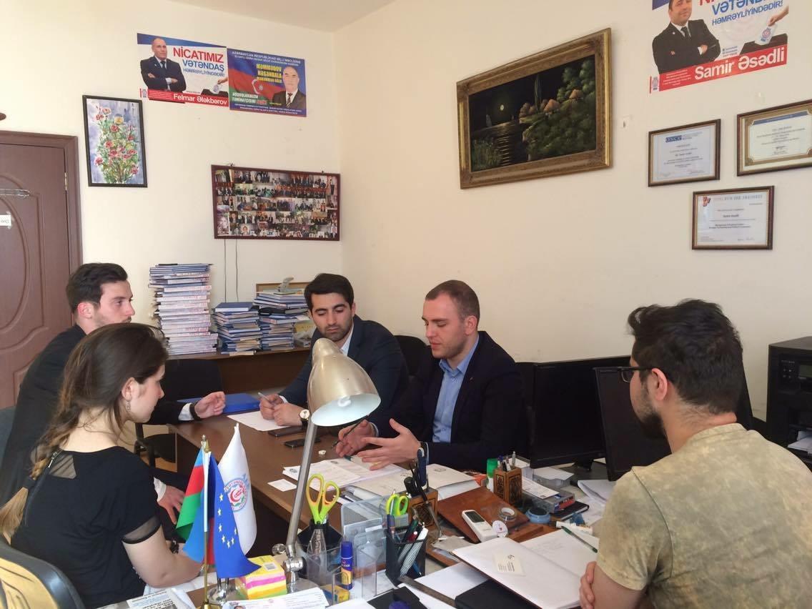 Photo of Gürcü gənc siyasətçilər VHP-də olublar
