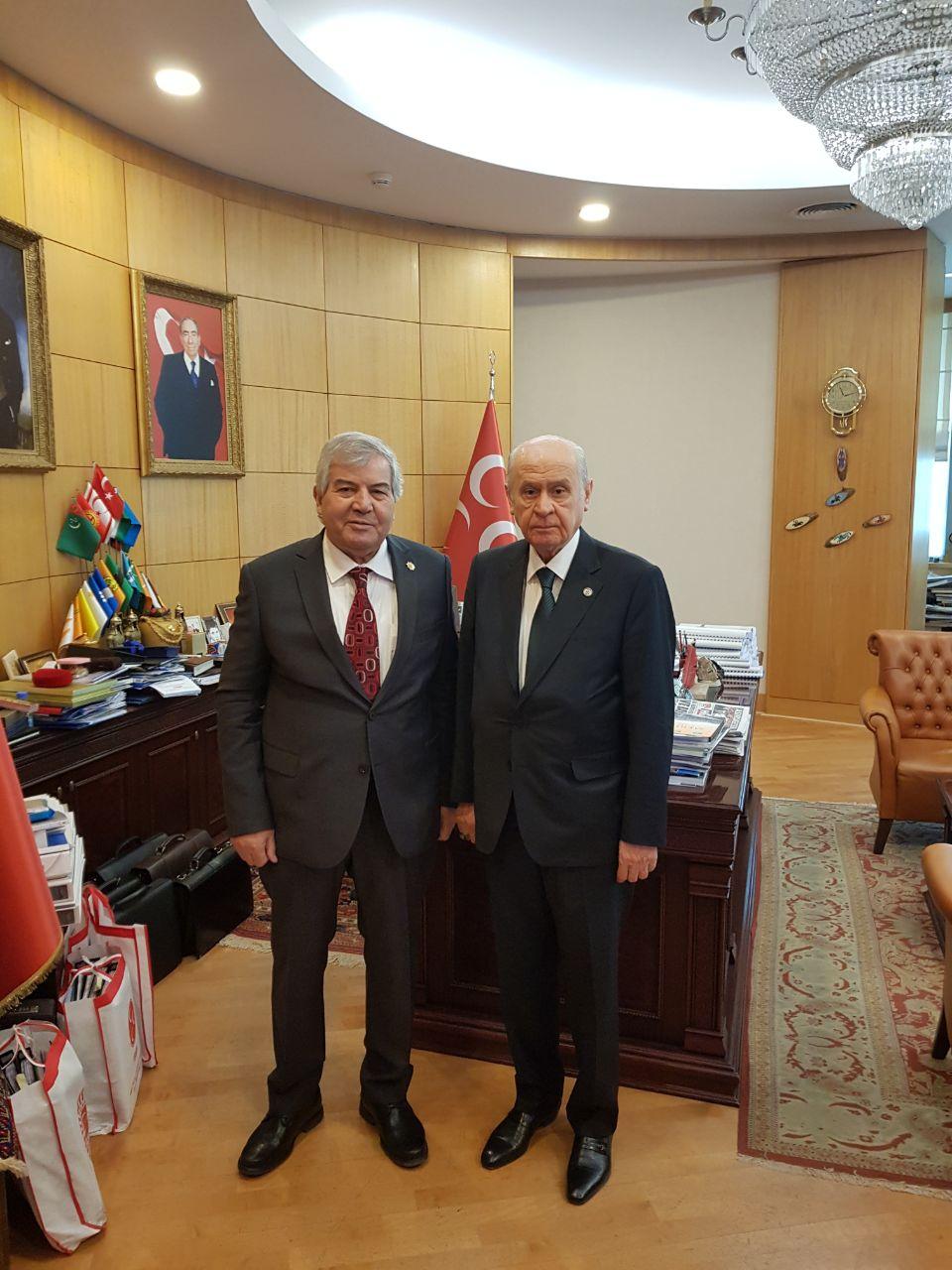 Photo of Sabir Rüstəmxanlı Devlet Bahçeli ilə görüşüb